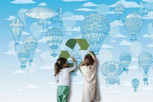 3D baloni – tapeta sa reljefom